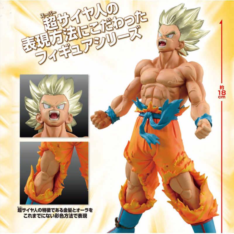 18 centímetros DBZ Vegeta Goku Dragon Ball Figuras Estatueta Mangá Japonaise Pvc Dragon Ball Z Super Saiyan Goku Action Figure modelo de Brinquedo