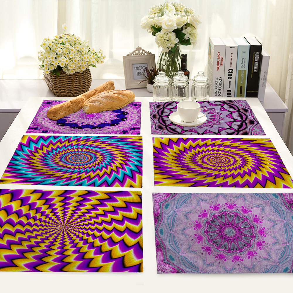 Rotate Pattern Table Mat Table Napkin Placemat Kitchen Decoration Dining Accessories 42x32cm MG0038