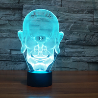 3D One Eyed Giant Table Lamp 7 Color Changing LED Head Portrait Nightlight USB Lampara Bedroom