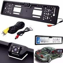 Car Rearview font b Camera b font EU European License Plate Frame Backup Car Number Waterproof