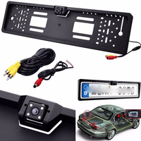 Car Rearview Camera EU European License Plate Frame Backup Car Number Waterproof 170 Degree CCD Night