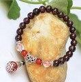 A grade natural garnet bracelet beads 7mm ancient silver agate gem bracelet special Garnet Bracelet women bracelet