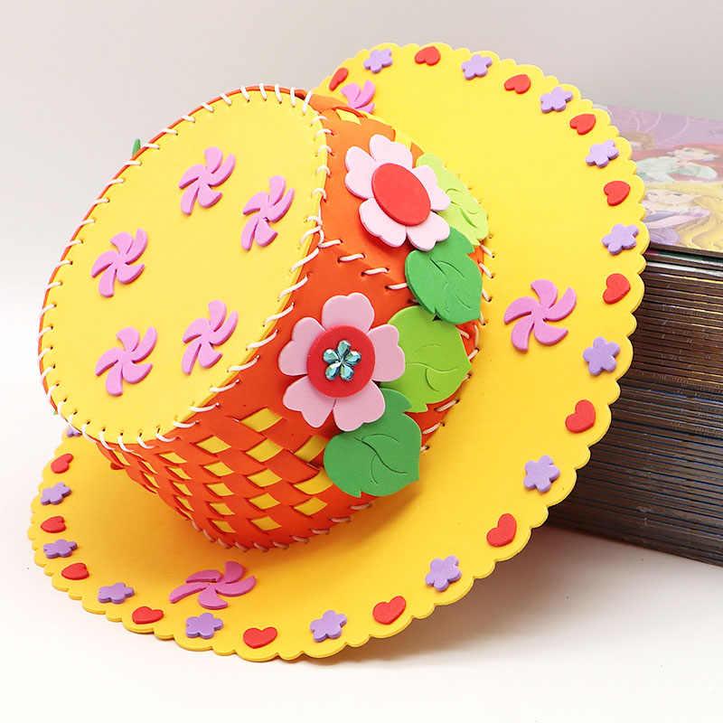 MYHOESWD шляпа развивающие игрушки с EVA Материал собрать игрушки ручной работы судов Наборы лето Швейные шляпа Модели Building игрушки для детей