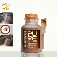 PURC Hair color powder permanently color hair dark and brown hair coloring easy do at home or travel 50g hair care
