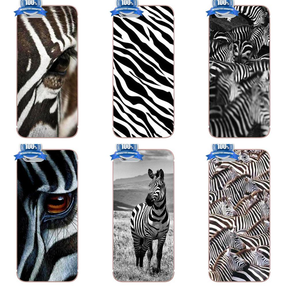Oedmeb Zebra Pattern Stampa Animale For Apple iPhone 4 4S 5 5C 5S SE 6 6S 7 8 Plus X For LG G3 G4 G5 G6 K4 K7 K8 K10 V10 V20