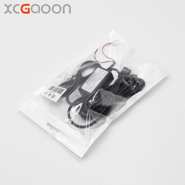 XCGaoon Carregador de Carro DC Módulo Conversor 12 V 24 V Para 5 V 3A com micro Cabo USB (em linha reta) Proteção de baixa Tensão Comprimento 3.5 m
