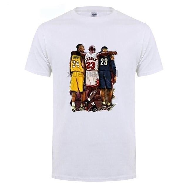 141510a3ba74 Men s Kobe Bryant Michael Jordan LeBron James Stars T shirt-in T ...
