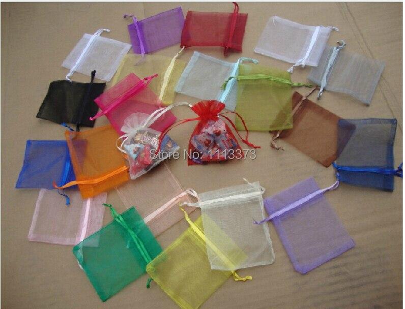 8 10cm Mix colors Organza Bags