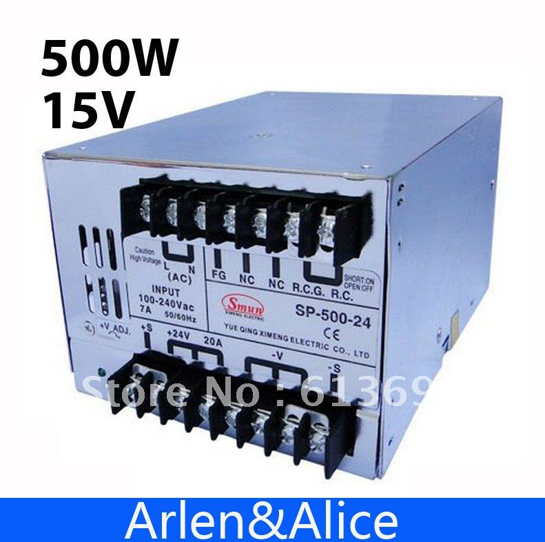 15v ac dc sp 75 15 single output with pfc function input fully range switching power supply SP500W 15V 32A with PFC Single Output Switching power supply for LED Strip light AC to DC