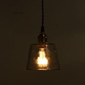 Image 4 - Хрустальная медная Подвесная лампа ручной работы из матового стекла для ресторана, отеля, столовой, кафе бара, латунная Подвесная лампа