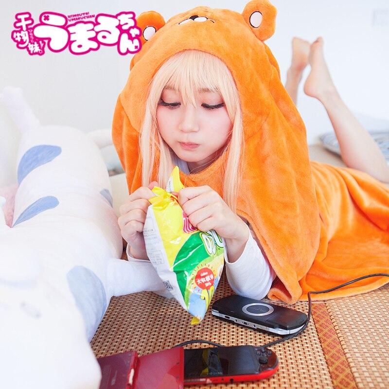 Free Shipping Himouto! Umaru-chan Cloak Anime Umaru chan Doma Umaru Cosplay Costume Flannels Cloaks Blanket Soft Cap Hoodie