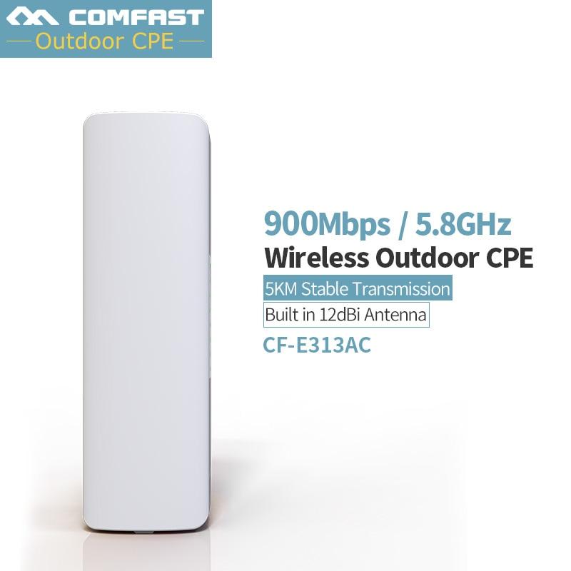 900Mbps COMFAST CF-E313AC 5KM Long Range WIFI 5.8Ghz Outdoor Mini Wireless AP Bridge WIFI CPE 12dBi WI-FI Antenna Nanostation