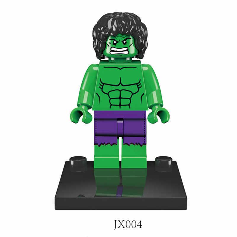 Строительные блоки Человек-паук Железный человек игрушки подарок для мальчиков и девочек
