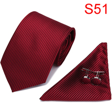 Tie Set Brand Mens Ties Causal Jacquard Woven Ties for Men Handkerchief Cufflink Business High-grade Gift Box wedding Necktie new brand men ties causal jacquard woven ties for men high grade gift box sets necktie handkerchief cufflink business tie set