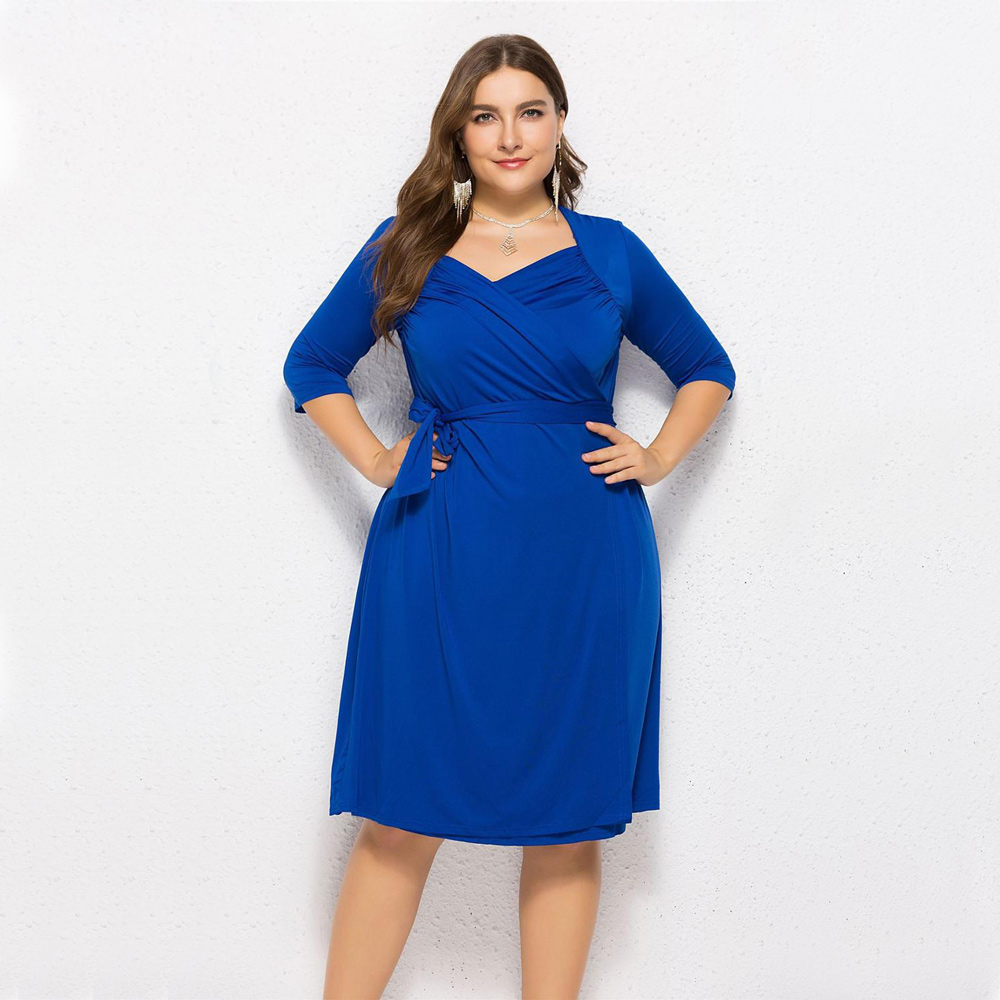 6XL size plus size oversize women clothes office dress working style slimming fashion lovely clothes factory sell low price good in Dresses from Women 39 s Clothing