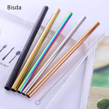100pcs Stainless Steel Straws Bubble Tea Diameter 12mm/10mm Reusable Drinking Straw Milk Tea Rainbow Metal Straw With Brush - DISCOUNT ITEM  36% OFF All Category