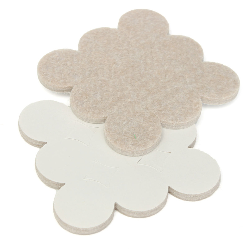 Best Price Top Quality 18Pcs Self Adhesive Floor Furniture Wall Chair  Scratch Protector Felt Round Pads Tool P