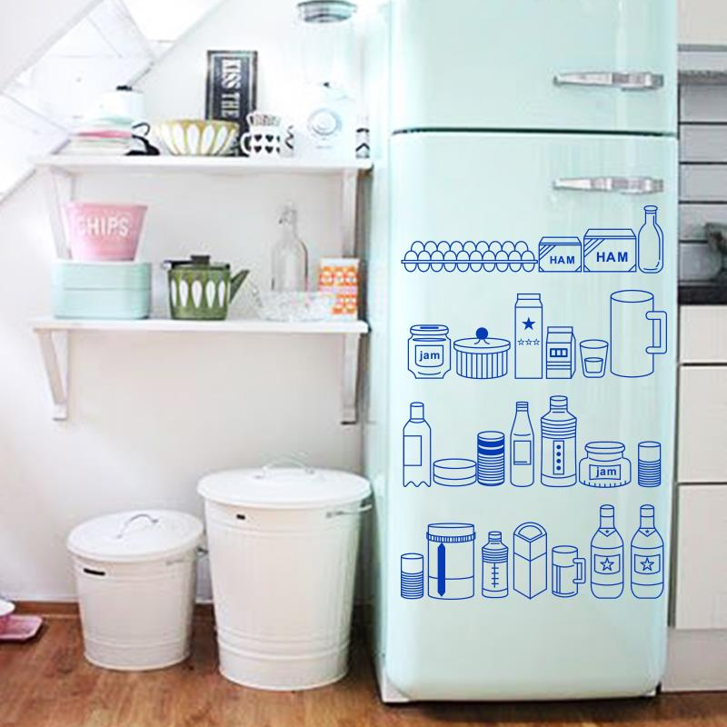 Art Decor 2015 New Design Cheap Waterproof Home Decor Cute Fridge Items Wall Stickers For Kitchen
