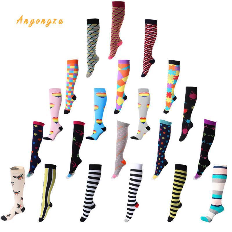Image 2 - 2018 European And American Elastic Compress Stockings Nylon Nurse Professional Pressure Long Legs Women Stocking 5pair/lot-in Stockings from Underwear & Sleepwears on AliExpress