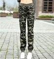 Carga Calças cáqui Mulheres 2016 Bolso Combate Calças Causais Calças para Femme Militar Do Exército Moda Camuflagem Das Mulheres Calças Femininas
