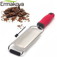 ERMAKOVA Wide Cheese Grater Lemon Zester Ginger Potato Garlic Choc Zester Chocolate With Plastic Cover Long