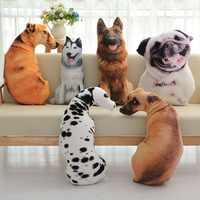 3D моделирование плюшевой собаки животных Подушка короткий плюшевый коврик Милая Подушка украшение дома мультфильм детский подарок стул по...