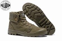 PALLADIUM Pallabrouse Quân xanh Sneakers Lần Lượt giúp Người Đàn Ông Cổ Chân Quân Khởi Giày Vải Nam Giới Thường Giày Thường Eur Kích Thước 39 45