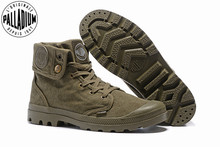 البلاديوم Pallabrouse الجيش الأخضر أحذية رياضية بدوره مساعدة الرجال العسكرية حذاء من الجلد قماش حذاء كاجوال رجالي حذاء كاجوال Eur حجم 39 45