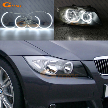 For BMW 3 Series E90 E91 saloon touring 2005-2008 Halogen headlight Excellent Ultra bright illumination CCFL Angel Eyes kit BMW 3
