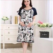Одежда для беременных и кормящих мам летние платья для сна с коротким рукавом для грудного вскармливания пижамы для беременных женщин верхняя одежда D0025