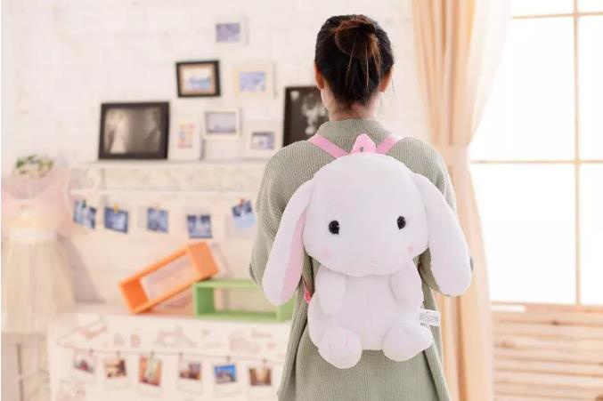 Rabbit Lop English Lop lolita style kawai quality plush bag Cartoon shoulder bag anime toy best gift for children and girls alilo g6 cute rabbit style children s english song