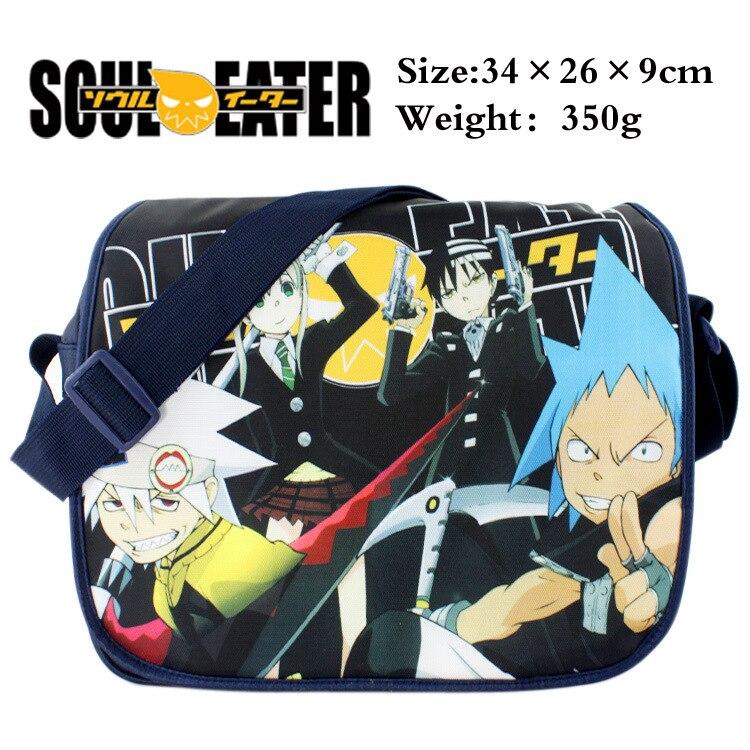 5bae0a5a106 Anime SOUL EATER polyester schoudertas gedrukt w/MAKA/Dood de Kid/Zwarte  Ster