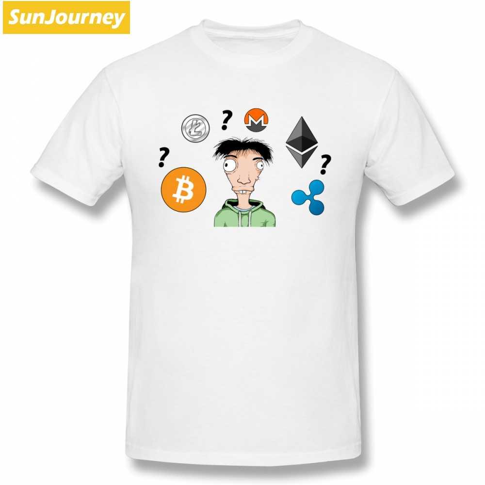 Litecoin Ethereum Ethereum Koin T Kemeja Lengan Pendek Kustom Pria T-shirt Baru dengan Harga Murah Ukuran Plus Kaos Oblong Pria kemeja