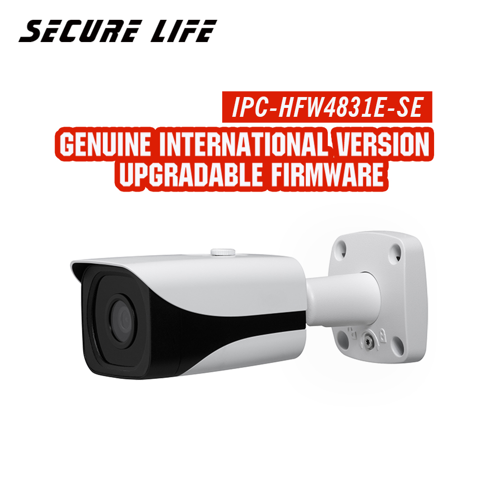 Anglais avec logo IPC-HFW4831E-SE 8MP WDR IR mini caméra réseau ip cctv IP67 POE micro fente mémoire SD métal