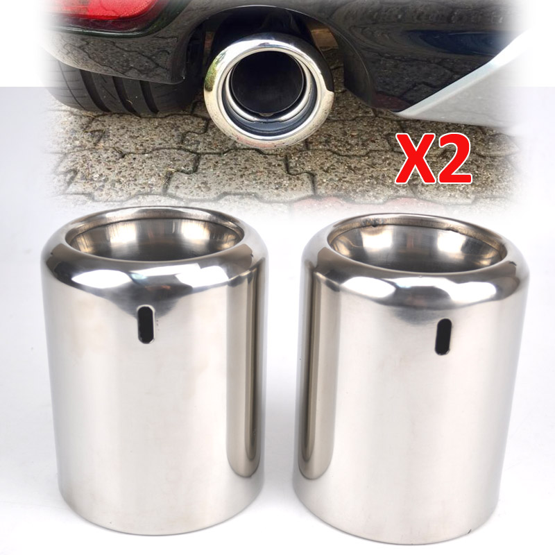2Pcs Car Chrome Exhaust Muffler Tip For Mazda 6 CX 5 CX5 2009 2016 Tailpipe Finisher