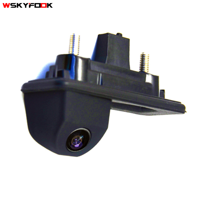 цена на HD ccd night viosn car trunk handle reverse parking rear view camera for Skoda Roomster Fabia Octavia Yeti superb for Audi A1