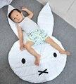 Venta caliente Acolchada Alfombra de Juegos Animales Conejo Cara Manta de Bebé Alfombra Alfombra Cama de Los Niños Decoración de La Habitación de Estilo Nórdico Decoración Niños