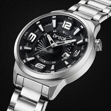 ROMPER Los Hombres Top Luxury Brand Calendario Único De La Manera Ocasional Del Cuarzo de Japón Deporte Relojes de pulsera de Regalo Creativo Relojes de Vestir para Hombres