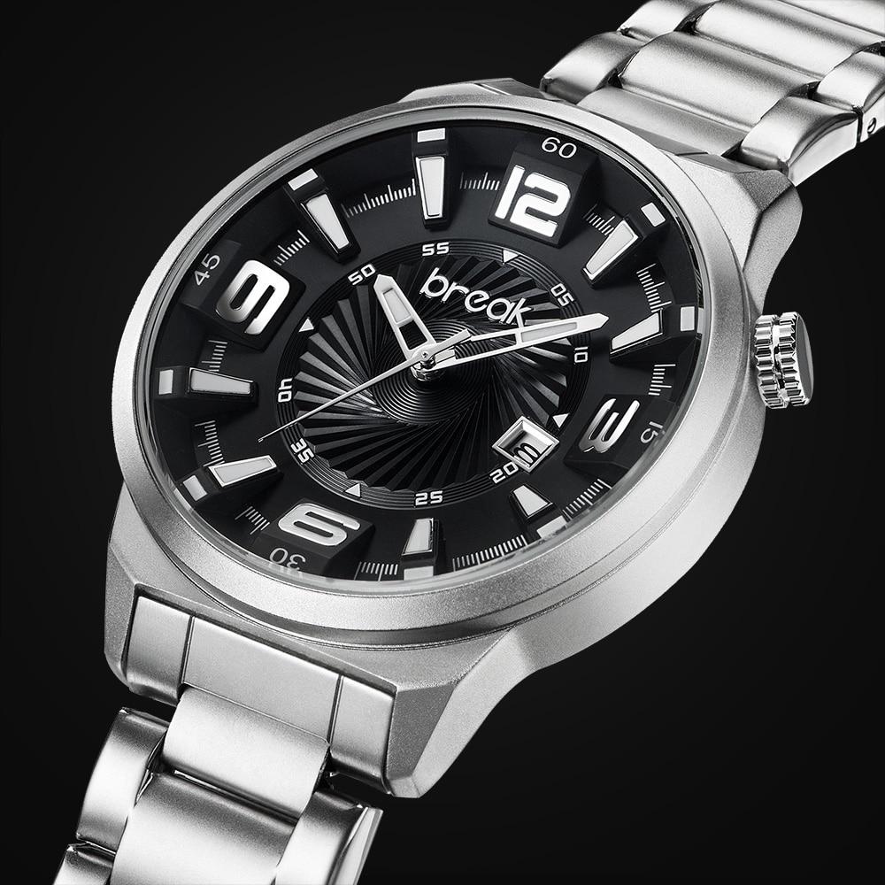 Prix pour Break hommes top marque de luxe unique mode casual calendrier japon quartz sport montres creative cadeau robe montres pour hommes