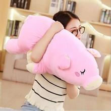 WYZHY down cotton pig hug plush toy sofa decoration to send friends and children gifts 80CM