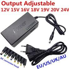 96W zasilacz do ładowania notebooka 12V 15V 16V 18V 19V 4.5A 20V 24V 4A AC DC Adapter regulowana moc Adapter do zasilacza uniwersalna ładowarka