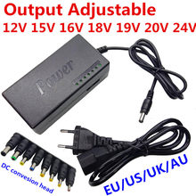96W Notebook Adapter 12V 15V 16V 18V 19V 4.5A 20V 24V 4A AC DC Adaptor Adjustable Power Supply Adapter Universal Charger(China)