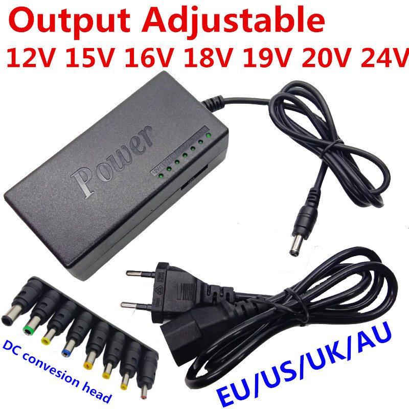 96W Notebook <font><b>Adapter</b></font> 12V 15V 16V 18V <font><b>19V</b></font> 4.5A 20V 24V 4A AC <font><b>DC</b></font> Adaptor Adjustable <font><b>Power</b></font> Supply <font><b>Adapter</b></font> Universal Charger image