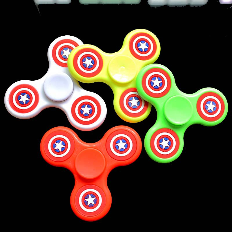 8Pcs/lot Random Color Captain America EDC Hand Fidget Spinner Toy Spinner Hand Toys Killing Time Focus Toys Free Shipping
