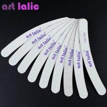 10 Pcs/ Pack Artlalic Nail Files Double-Side Emery Board 100/180 Grit Buffering Nail Art Thick Sandpaper Salon Manicure