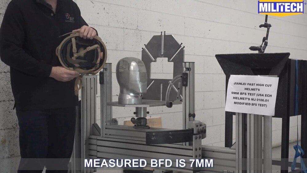 9mm Bfd/bfs Konform Test Video Systematisch Militech Schnelle Helm Der Uns Dot & E Der Bfd Protokoll