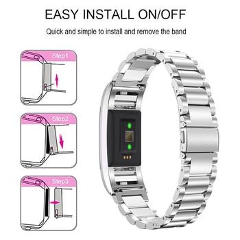 SCOMAS עבור Fitbit תשלום 2 להקת נירוסטה החלפת שעון רצועת מתכוונן קלאסי יד צמיד עבור Fitbit תשלום 2