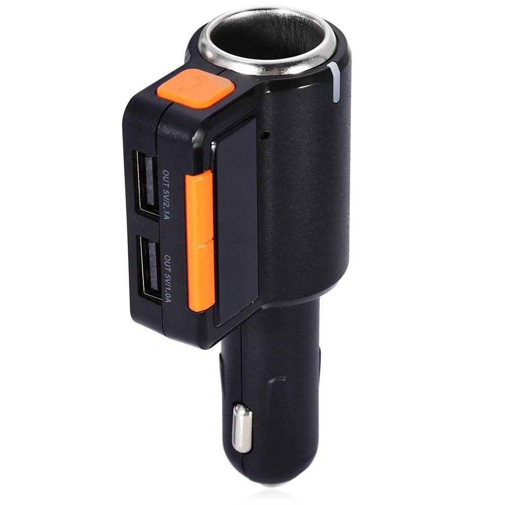 Bluetooth Car Kit FM Transmitter Modulator Dual USB Car Charger Wireless MP3 Player with font b