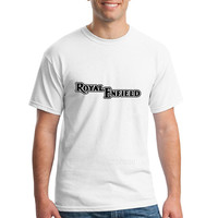 Letter Royal Enfield Tees Shirt Men Male Popular White Short Sleeve Custom Plus Size Party Harajuku