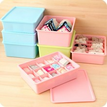 1PC Compartment storage box case store Socks bra underwear stationery boxes cases LF 014